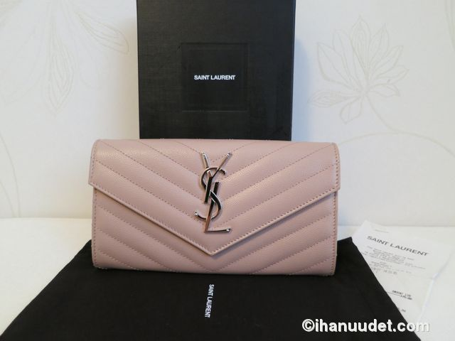 Saint Laurent Monogram Rose Wallet1.JPG