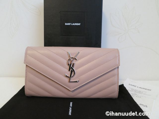 Saint Laurent Monogram Rose Wallet2.JPG