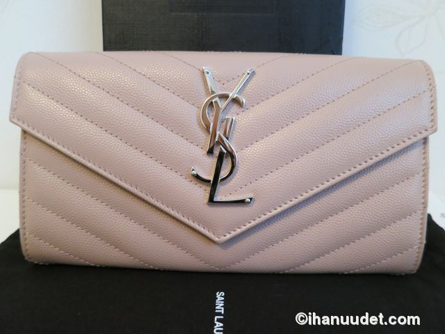 Saint Laurent Monogram Rose Wallet3.JPG